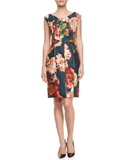 J. Mendel Floral-Print Gazar Cocktail Dress