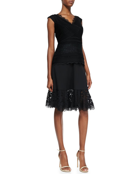 Lace-Hem Full Skirt