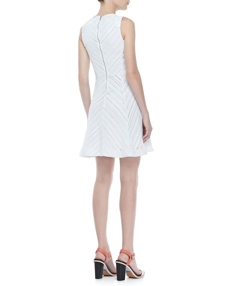 Basha Sleeveless Burnout Dress