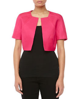 J. Mendel Short-Sleeve Bolero, Raspberry