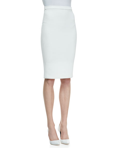 Crepe Pencil Skirt