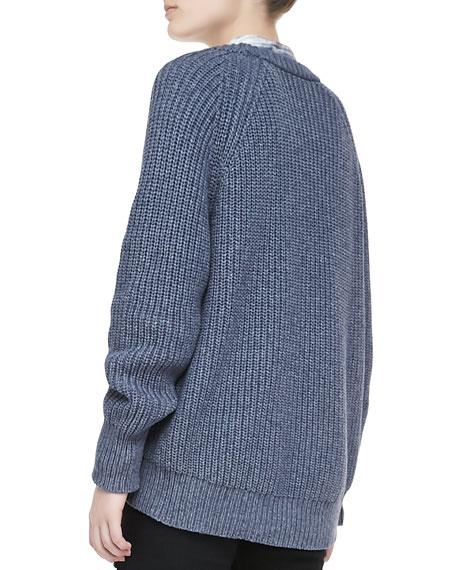 Kaslin R Long-Sleeve Knit Sweater