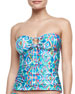 Savannah Printed Bandini Swim Top