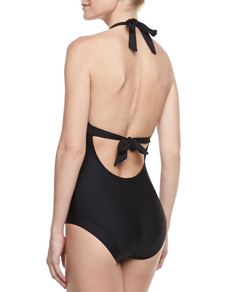 Classic Halter One-Piece Swimsuit