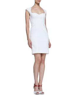 Catherine Malandrino Crocheted Lace-Back Cocktail Dress, Blanc