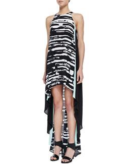 T7K8C BCBGMAXAZRIA Malisa High-Low Printed Dress