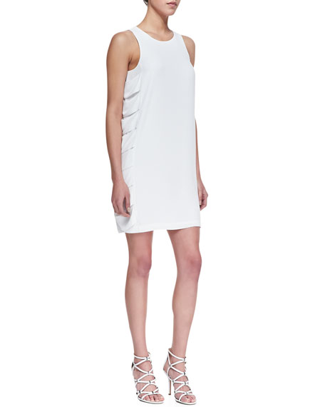 Eren Drape-Side Crepe Dress