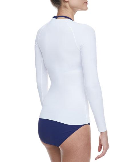 Long-Sleeve Rashguard, White