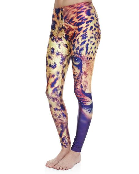 Victory Lion-Print Leggings