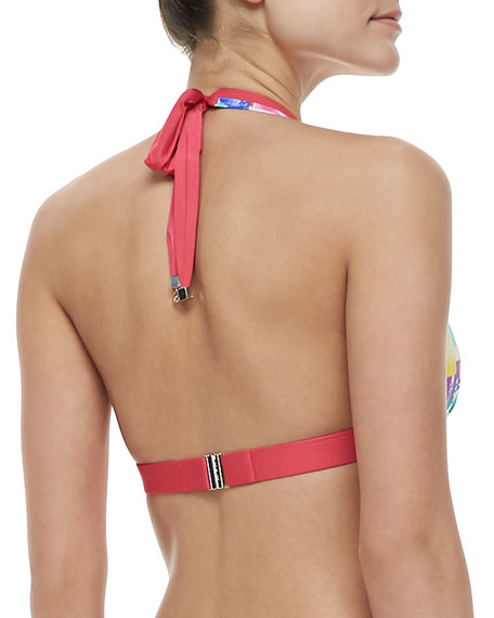 Les Pivoines Triangle Bra Halter Bikini Top