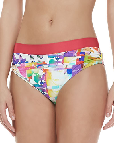 Shan Les Pivoines-Print Swim Bottom