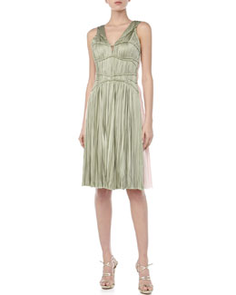 J. Mendel Sleeveless Hand-Pleated Dress