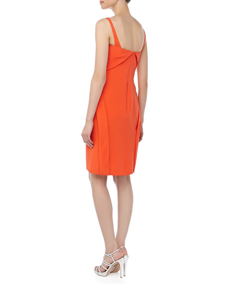 Scoop-Neck Sleeveless Dress, Tiger Lily