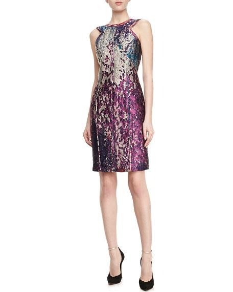 Sleeveless Fitted Sheath Dress