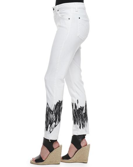 Sandra D. Control-Panel Paint-Printed Jeans