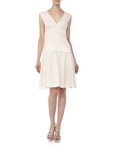 Sleeveless V-Neck Knit Dress