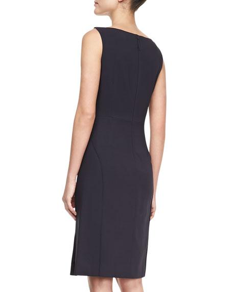 Sleeveless Jersey Sheath Dress