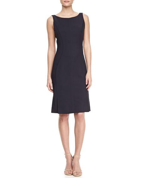 Sleeveless Jersey Sheath Dress
