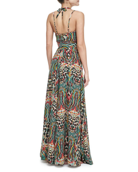 Nambassa Melba Halter Maxi Coverup Dress