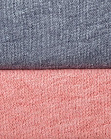Linen and Silk Blend Slub Tee