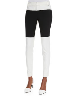 Tibi Anson Colorblock Stretch Pants