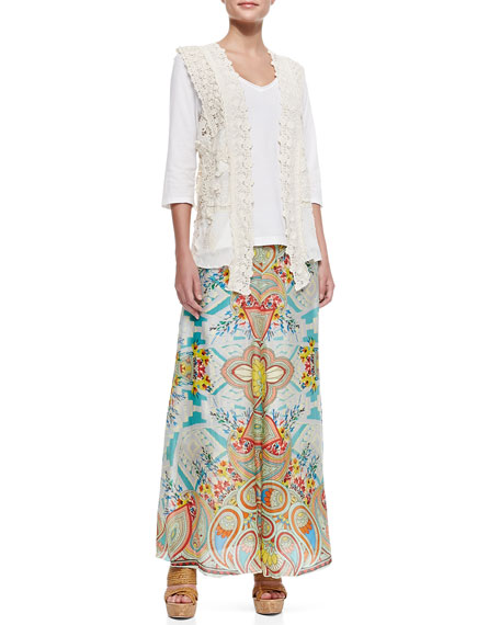 Dandridge Printed Long Skirt