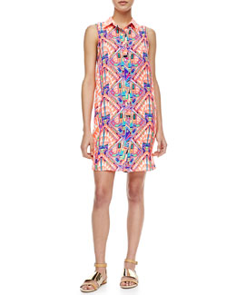 Mara Hoffman Sleeveless Cosmic Printed Shirtdress