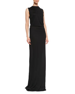 10 Crosby Derek Lam Knotted Open-Back Maxi Dress