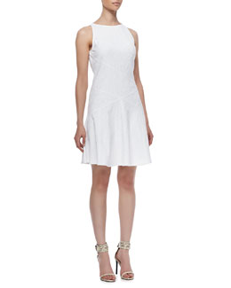 10 Crosby Derek Lam Diagonal-Seams Sleeveless Dress
