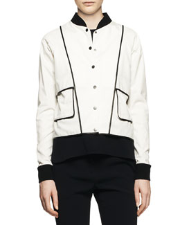 A.L.C. Hampton Two-Tone Snap Jacket