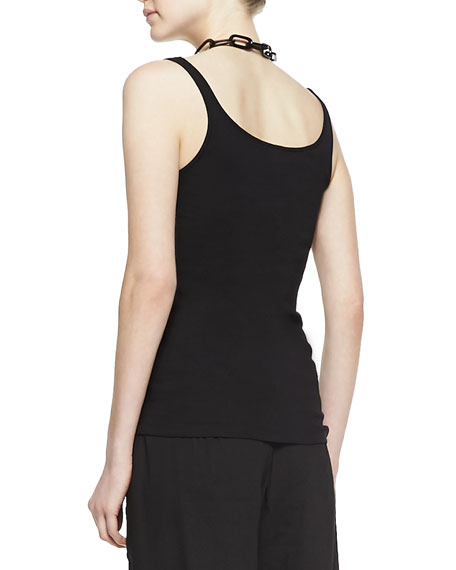 Long Slim Cotton Tank, Petite