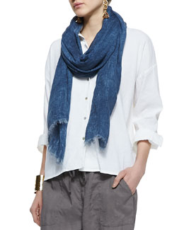 Eileen Fisher Tinted Sparkle Scarf, Denim