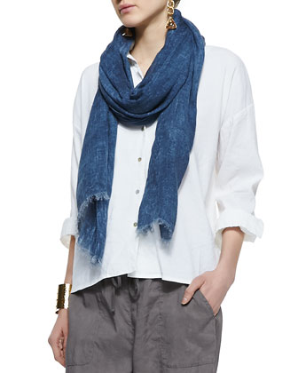 Tinted Sparkle Scarf, Denim