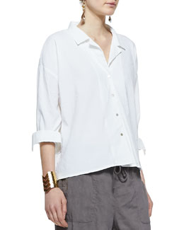 Eileen Fisher Linen-Blend Boxy Shirt