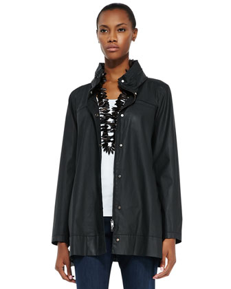 A-Line Hooded Jacket, Petite