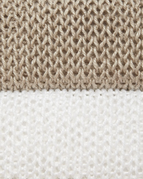 Linen Colorblock Box Top, Women's