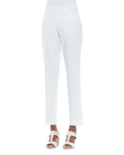 Eileen Fisher Organic Stretch Slim Twill Trousers, Petite
