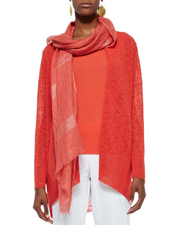 Eileen Fisher Shimmery Striped Scarf