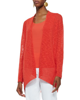 Eileen Fisher Melange Linen-Blend Cardigan, Women's