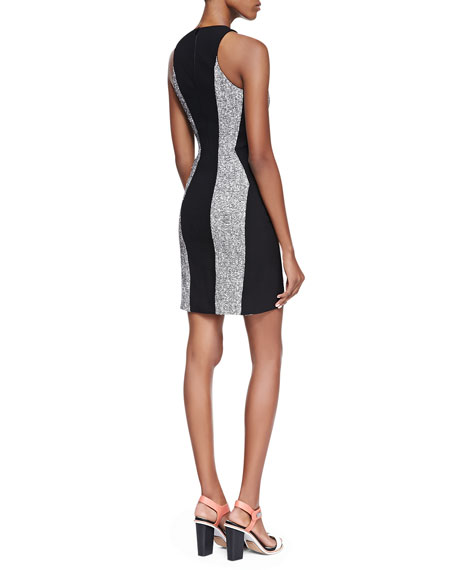 Clemence Paneled Tweed Dress