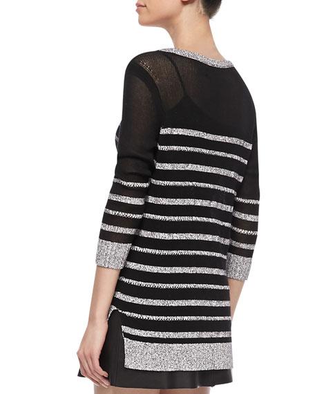 Azra Striped Knit Pullover