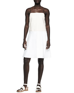 Rag & Bone Paige Pleated A-Line Combo Dress