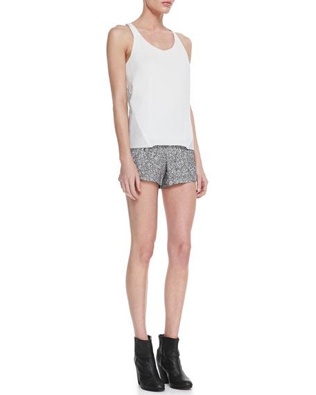 Florencia High-Waist Tweed Shorts