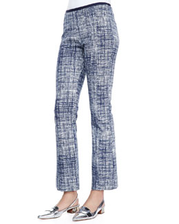 Tory Burch Kinsley Crosshatch Ankle Pants
