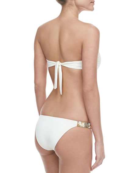 Bandeau Bikini with Golden Hardware