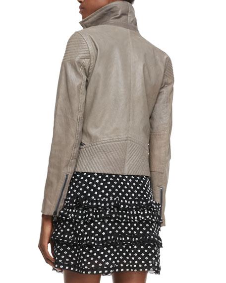 Karlie Leather Moto Jacket