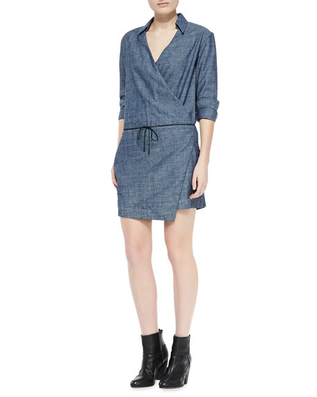 Chambray Relaxed Wrap Dress