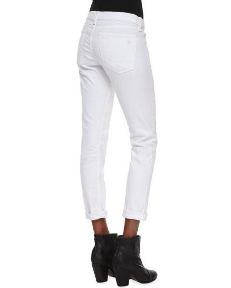 Dre Slim Boyfriend Jeans, Aged Bright White