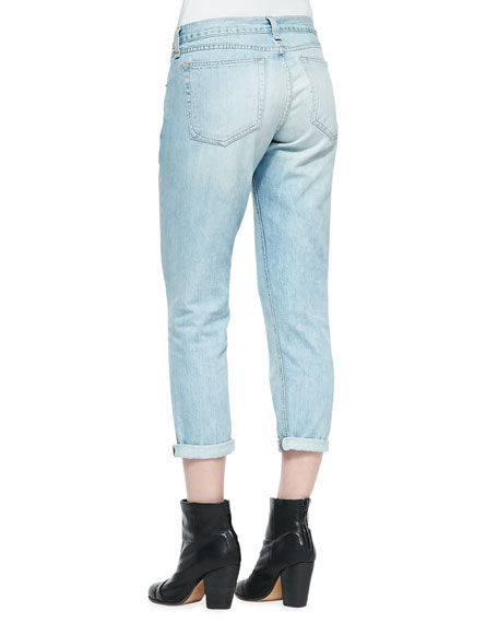 Oldmans Light-Wash Cropped Boyfriend Jeans