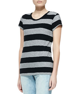 rag & bone/JEAN Brando Striped Slub Tee